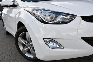 2012 Hyundai Elantra MD Elite White 6 Speed Sports Automatic Sedan.