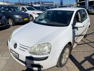 2007 Volkswagen Golf V MY08 Comfortline DSG Candy White 6 Speed Sports Automatic Dual Clutch.
