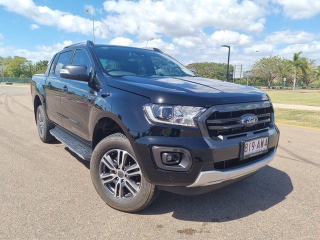 Used Ford Ranger PX MkIII 2021.25MY Wildtrak Townsville, 2021 Ford Ranger PX MkIII 2021.25MY Wildtrak Shadow Black 10 Speed Sports Automatic
