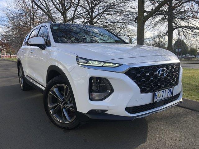 Used Hyundai Santa Fe TM MY19 Highlander Launceston, 2018 Hyundai Santa Fe TM MY19 Highlander White 8 Speed Sports Automatic Wagon