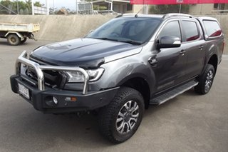 2017 Ford Ranger PX MkII 2018.00MY Wildtrak Double Cab Grey 6 Speed Manual Utility.