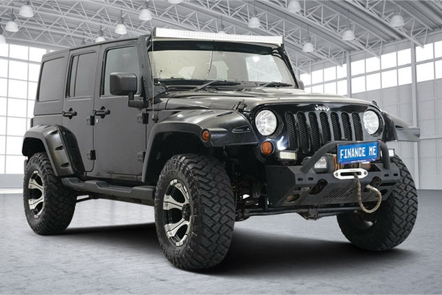 Used Jeep Wrangler JK MY2013 Unlimited Sport Victoria Park, 2013 Jeep Wrangler JK MY2013 Unlimited Sport Black 6 Speed Manual Softtop