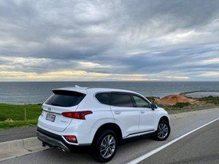 2018 Hyundai Santa Fe TM MY19 Elite White Cream Pearl/ch 8 Speed Sports Automatic Wagon.