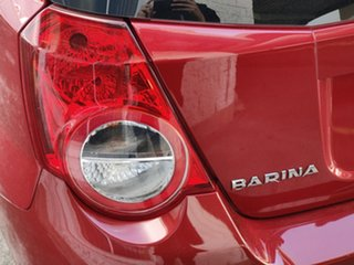 2011 Holden Barina TK MY11 Flame Red 4 Speed Automatic Hatchback