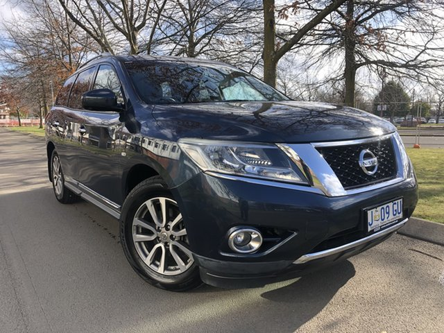 Used Nissan Pathfinder R52 MY15 ST-L X-tronic 4WD Launceston, 2015 Nissan Pathfinder R52 MY15 ST-L X-tronic 4WD Galaxy Blue 1 Speed Constant Variable Wagon