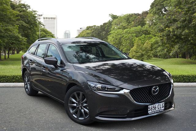 Demo Mazda 6 GL1033 Sport SKYACTIV-Drive Paradise, 2021 Mazda 6 GL1033 Sport SKYACTIV-Drive Machine Grey 6 Speed Sports Automatic Wagon