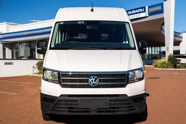 New Volkswagen Crafter SY1 MY21 Minibus MWB FWD TDI410 Wangara, 2021 Volkswagen Crafter SY1 MY21 Minibus MWB FWD TDI410 Candy White 8 Speed Automatic Bus