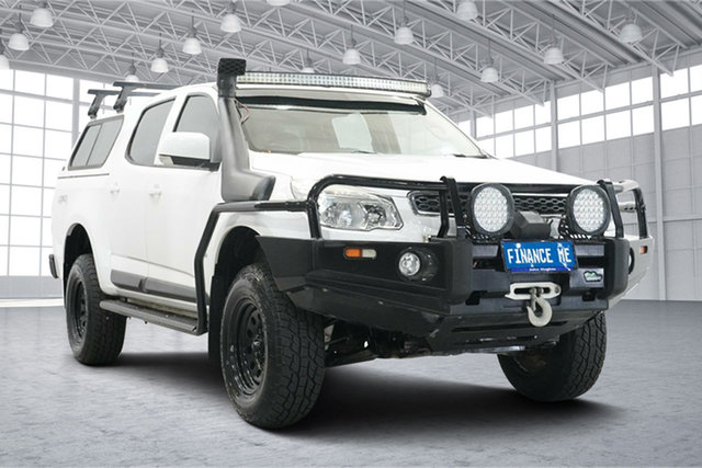 Used Holden Colorado RG MY14 LX Crew Cab Victoria Park, 2014 Holden Colorado RG MY14 LX Crew Cab White 6 Speed Sports Automatic Cab Chassis