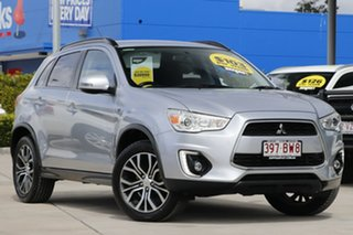 2016 Mitsubishi ASX XB MY15.5 LS 2WD Cool Silver 6 Speed Constant Variable Wagon.