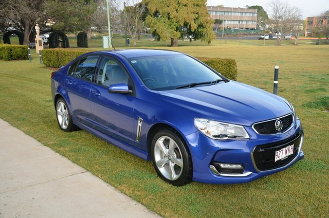Used Holden Commodore VF II SV6 Toowoomba, 2016 Holden Commodore VF II SV6 Blue 6 Speed Automatic Sedan