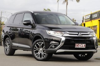 2017 Mitsubishi Outlander ZK MY17 LS 2WD Safety Pack Black 6 Speed Constant Variable Wagon.