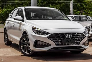 2021 Hyundai i30 PD.V4 MY21 Elite White 6 Speed Sports Automatic Hatchback.