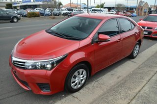 2014 Toyota Corolla ZRE172R Ascent Red 7 Speed CVT Auto Sequential Sedan.