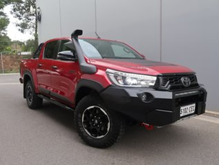 2019 Toyota Hilux GUN126R Rugged X Double Cab Red 6 Speed Sports Automatic Utility.