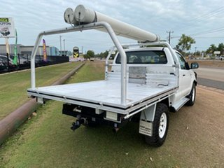 2010 Toyota Hilux KUN26R MY10 SR Xtra Cab White 5 Speed Manual Cab Chassis