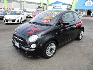 2013 Fiat 500 Lounge Black 4 Speed Automatic Hatchback.