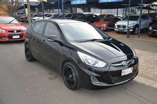 2015 Hyundai Accent RB2 Active Black 6 Speed Manual Hatchback.