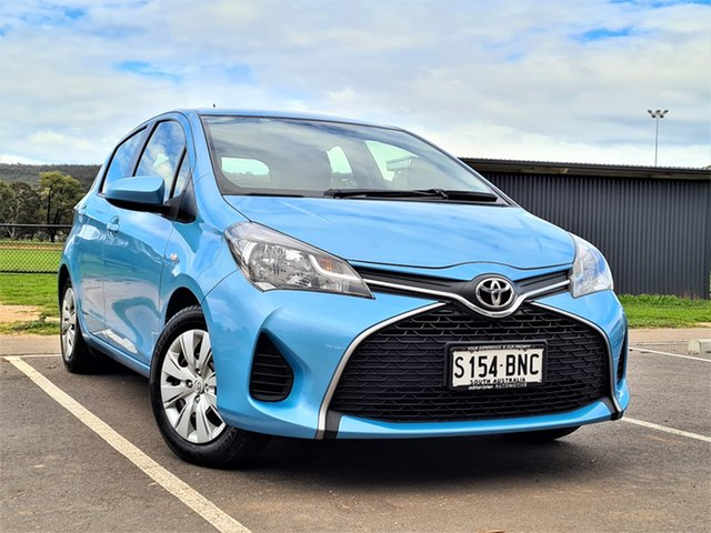 Used Toyota Yaris NCP130R Ascent St Marys, 2016 Toyota Yaris NCP130R Ascent Blue 4 Speed Automatic Hatchback