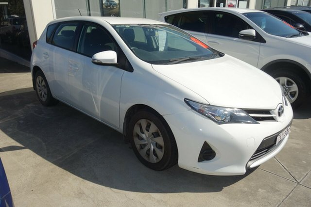 Used Toyota Corolla ZRE182R Ascent S-CVT East Maitland, 2013 Toyota Corolla ZRE182R Ascent S-CVT White 7 Speed Constant Variable Hatchback