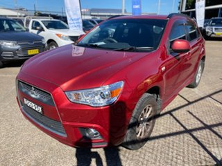 2010 Mitsubishi ASX XA MY11 2WD Red 6 Speed Constant Variable Wagon.