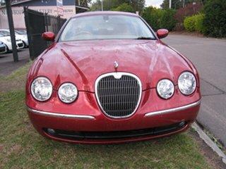 2006 Jaguar S-Type MY06 3.0 Diesel Luxury Red 6 Speed Automatic Sedan.