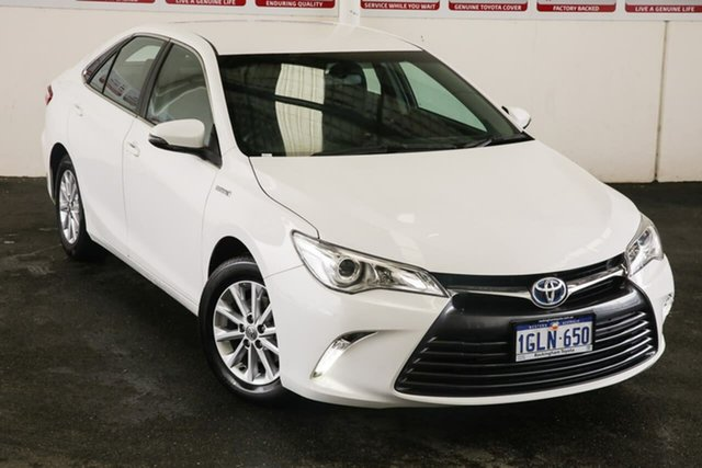 Pre-Owned Toyota Camry AVV50R MY16 Altise Hybrid Rockingham, 2017 Toyota Camry AVV50R MY16 Altise Hybrid Diamond White Continuous Variable Sedan