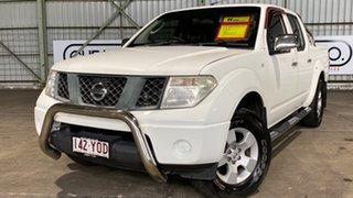 2007 Nissan Navara D40 RX White 5 Speed Automatic Utility.