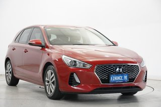 2018 Hyundai i30 PD MY18 Active D-CT Red 7 Speed Sports Automatic Dual Clutch Hatchback.