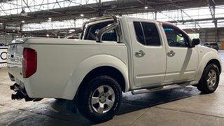 2007 Nissan Navara D40 RX White 5 Speed Automatic Utility