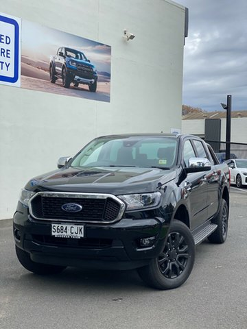 Demo Ford Ranger PX MkIII 2021.25MY XLT Port Adelaide, 2021 Ford Ranger PX MkIII 2021.25MY XLT Shadow Black 6 Speed Sports Automatic Double Cab Pick Up