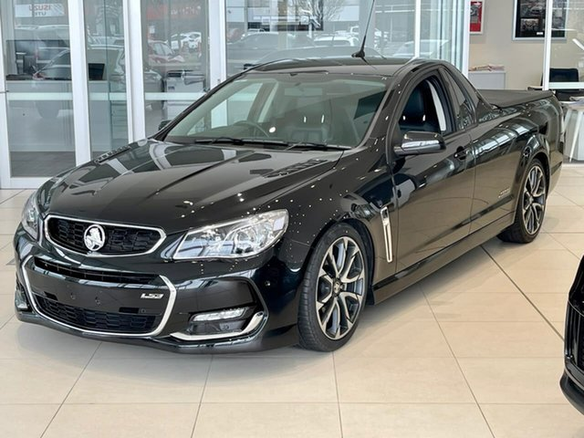 Used Holden Ute VF II MY16 SS V Ute Essendon Fields, 2016 Holden Ute VF II MY16 SS V Ute Black 6 Speed Sports Automatic Utility
