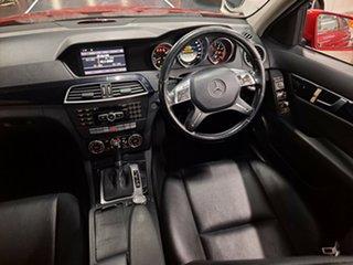2011 Mercedes-Benz C-Class W204 MY10 C200 CGI Classic Red 5 Speed Sports Automatic Sedan