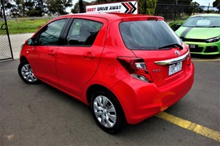 2014 Toyota Yaris NCP130R Ascent Red 5 Speed Manual Hatchback