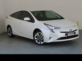2018 Toyota Prius ZVW50R I-Tech (Hybrid) Crystal Pearl Continuous Variable Hatchback