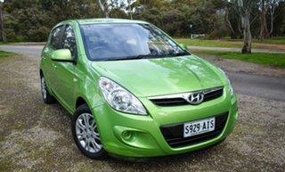 2010 Hyundai i20 PB Active Green 5 Speed Manual Hatchback.