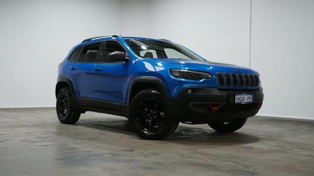 Used Jeep Cherokee KL MY19 Trailhawk Welshpool, 2019 Jeep Cherokee KL MY19 Trailhawk Blue 9 Speed Sports Automatic Wagon