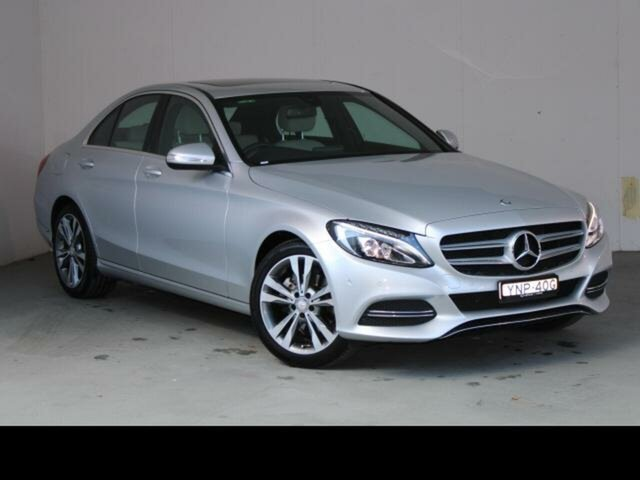 Used Mercedes-Benz C200 W204 MY14 Fyshwick, 2014 Mercedes-Benz C200 W204 MY14 Iridium Silver 7 Speed Automatic G-Tronic Sedan