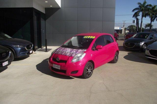Used Toyota Yaris NCP90R MY11 YR North Rockhampton, 2011 Toyota Yaris NCP90R MY11 YR Pink 4 Speed Automatic Hatchback