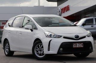 2019 Toyota Prius v ZVW40R White 1 Speed Constant Variable Wagon Hybrid.