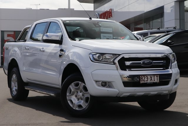 Pre-Owned Ford Ranger PX MkII XLT Double Cab Woolloongabba, 2017 Ford Ranger PX MkII XLT Double Cab White 6 Speed Sports Automatic Utility