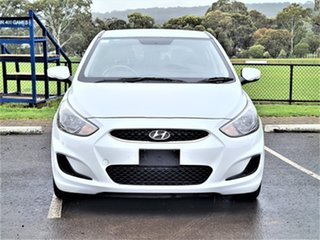 2018 Hyundai Accent RB6 MY18 Sport White 6 Speed Sports Automatic Hatchback.