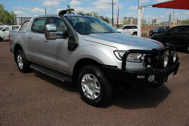 Pre-Owned Ford Ranger PX MkII XLT Double Cab Darwin, 2017 Ford Ranger PX MkII XLT Double Cab Silver 6 Speed Automatic Double Cab Pick Up