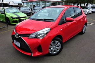 2014 Toyota Yaris NCP130R Ascent Red 5 Speed Manual Hatchback.