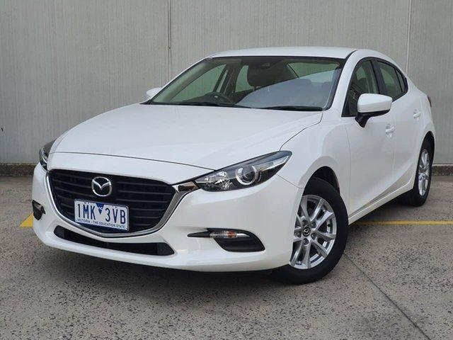 Used Mazda 3 BN5278 Neo SKYACTIV-Drive Oakleigh, 2017 Mazda 3 BN5278 Neo SKYACTIV-Drive White 6 Speed Sports Automatic Sedan