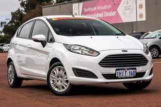 2016 Ford Fiesta WZ Ambiente PwrShift White 6 Speed Sports Automatic Dual Clutch Hatchback.