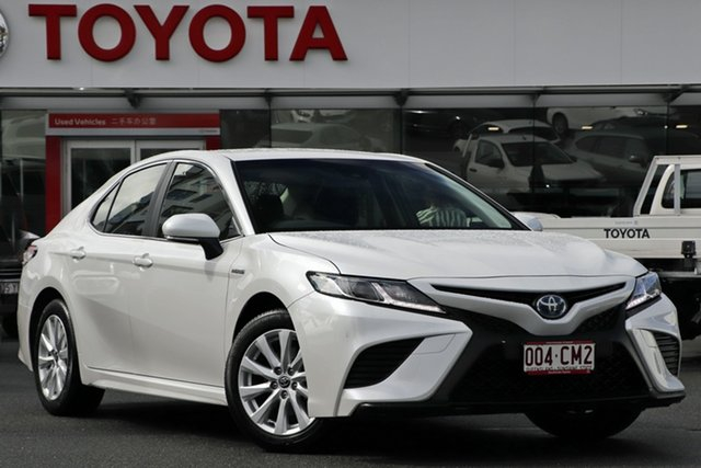 Pre-Owned Toyota Camry Axvh70R Ascent Sport Upper Mount Gravatt, 2020 Toyota Camry Axvh70R Ascent Sport Frosted White 6 Speed Constant Variable Sedan Hybrid