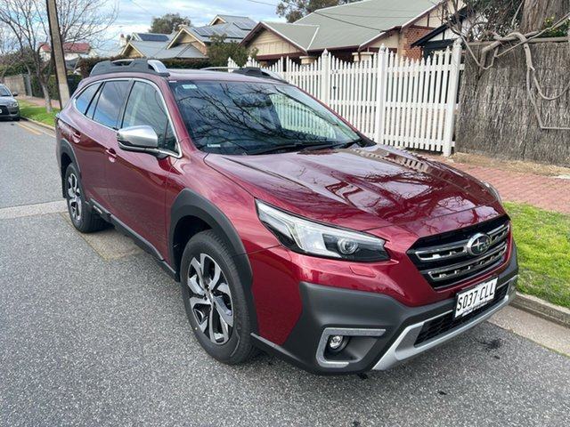 Demo Subaru Outback B7A MY21 AWD Touring CVT Glenelg, 2021 Subaru Outback B7A MY21 AWD Touring CVT Crimson Red 8 Speed Constant Variable Wagon