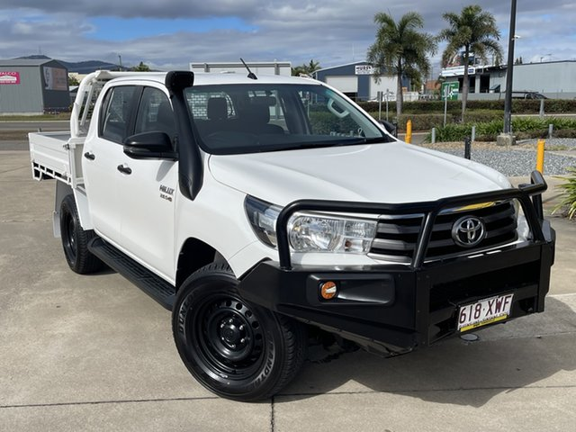 Used Toyota Hilux GUN126R SR Double Cab Townsville, 2017 Toyota Hilux GUN126R SR Double Cab White/190218 6 Speed Sports Automatic Utility