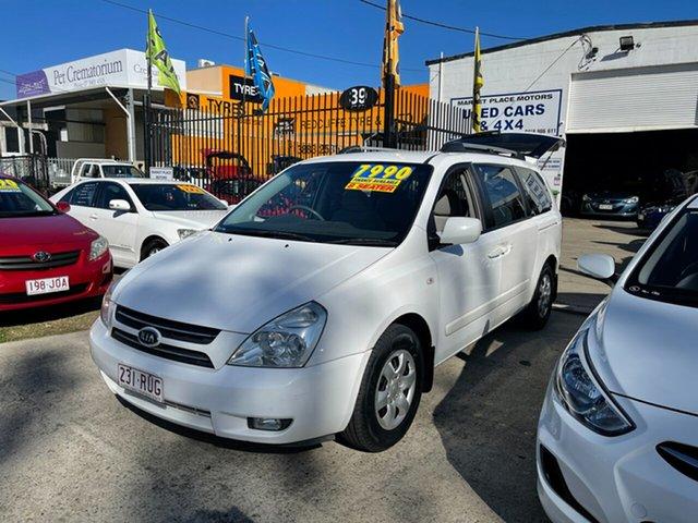 Used Kia Grand Carnival VQ EX Clontarf, 2007 Kia Grand Carnival VQ EX White 5 Speed Sports Automatic Wagon