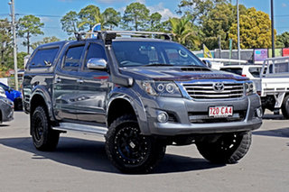 2012 Toyota Hilux KUN26R MY12 SR5 Double Cab Galactic Grey 4 Speed Automatic Utility.